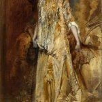 Hans Makart, Sarah Bernhardt (Skizze zum nicht erhaltenen lebensgroßen Porträt), 1881, Öl auf Leinwand, 86 x 50 cm, Salzburg Museum