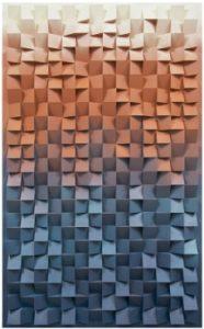"Jan Albers ""thrEEhundrEdtwEntytwOupanddOwnwEdgEs"", 2012,Sprühfarbe auf Polystyrol & Holz, 240 x 150 x 13 cm,Photo© & Courtesyder Künstler & VAN HORN, Düsseldorf"