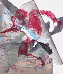 Pia Fries, corpus transludi B14, 2017Acrylfarbe und Siebdruck auf Steinpapier auf Holz, 59,5 x 45 cm, Courtesy Mai 36 Galerie, Zürich, © VG Bild-Kunst Bonn 2019, Fotograf: Hans Brändli