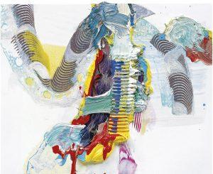 Pia Fries, parfanz, 1999,Ölfarbe auf Holz, 30-teilig , je 40 x 50 cm, Musée d'Art moderne de la Ville de Paris, © VG Bild-Kunst Bonn 2019, Fotograf: Hans Brändli