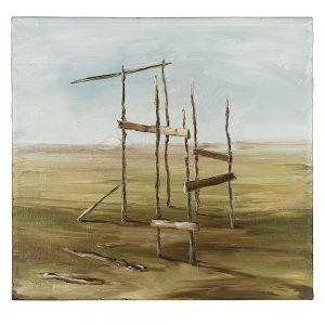 Monika Baer, Ohne Titel , 1992, Öl auf Leinwand, 44 x 47 cm, Courtesy die Künstlerin und Galerie BarbaraWeiss, Berlin