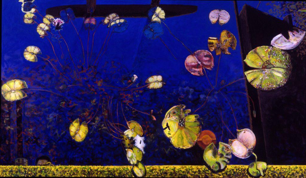 Norbert Tadeusz, Feldafing VIII, 2005, Acryl Leinwand, 274 x 466 cm, NATIONAL-BANK Sammlung, © Norbert Tadeusz VG Bild-Kunst, Bonn, 2019, Foto Mick Vincenz