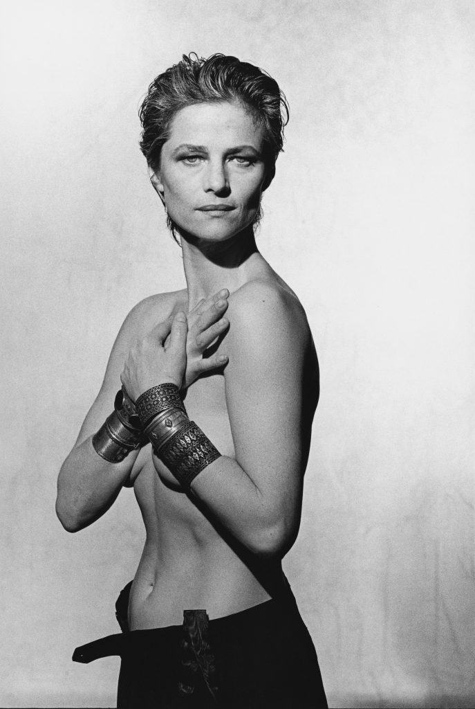 Charlotte Rampling,  Vanity Fair, Pin-up Studio, Paris 1987 © Peter Lindbergh / courtesy Schirmer/Mosel